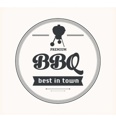 Barbeque vintage sign on white background vector