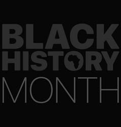 Black history month logo with the africa vector