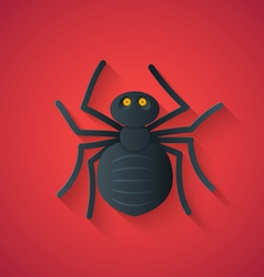 Black Spider Funny Halloween Carton with Long Sha vector image