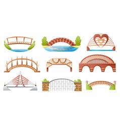 bridge urban crossover architecture vector image