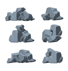 Cartoon stones set vector