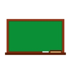 Chalk board school isolated icon vector