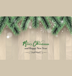 Christmas and new year greetings with green and vector