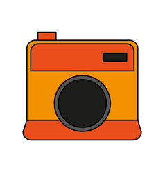 color image cartoon analog camera with flash vector image