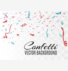 colorful bright confetti vector image