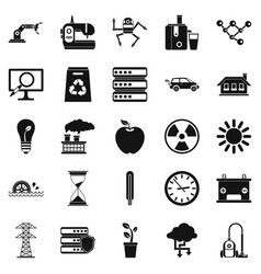 compensator icons set simple style vector image