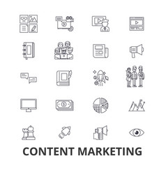 Content marketing social media management vector