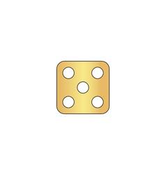 Dice 5 computer symbol vector