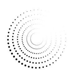 dot circle pattern halftone circular burst vector image