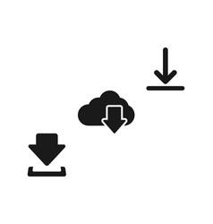 Download icons download icon diagonally three vector