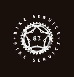 emblem for bicycle shop vector image