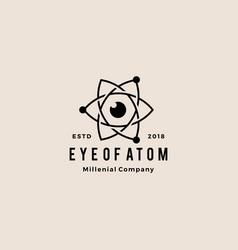 eye atom hipster vintage logo icon vector image