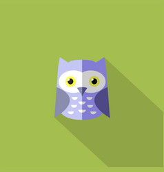 flat owl icon vector image