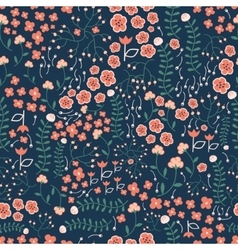 Floral seamless pattern for fabric vector image