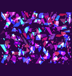 flying broken particles on a dark background vector image