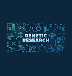 Genetic research linear biology concept vector