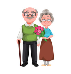 grandparents day grandmother and grandfather vector image