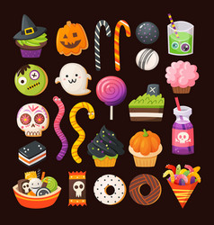 halloween treats vector image