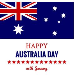 happy australia day 26 january festive design vector image