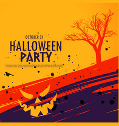 Happy halloween celebration background in grunge vector
