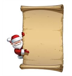 Happy Santa Scroll Empty Label Presenting vector image
