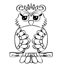 High quality original of Owl on a vector image