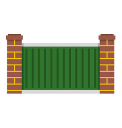 Home fence icon isolated vector