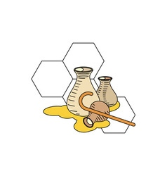 Honey-in-Jars-380x400 vector