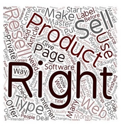 How To Make Money With Resell Rights text vector