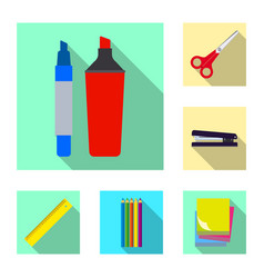 isolated object of office and supply sign vector image