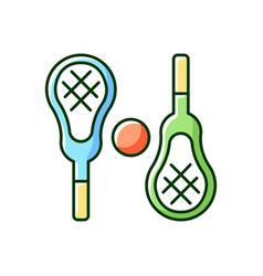 lacrosse rgb color icon vector image