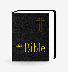 Leather holy bible book pictogram icons vector