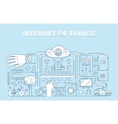 Line style design concept internet things vector