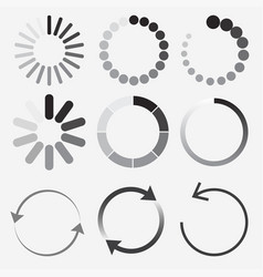 loading status icons round progress bar vector image
