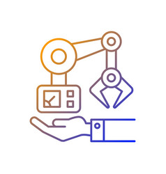 machinery owning gradient linear icon vector image