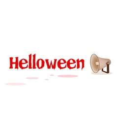 Megaphone Shouting Word Halloween vector
