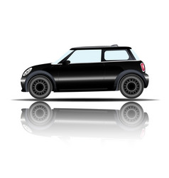 mini car black color white background image vector image