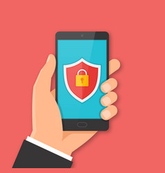 Mobile security concept vector