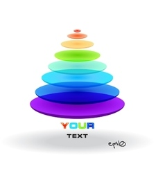Multicolor abstract logo triangle vector image vector image