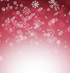 New year christmas snow red card vector image