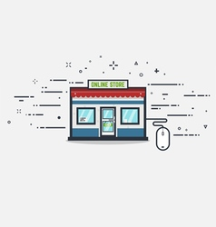 Online store vector image