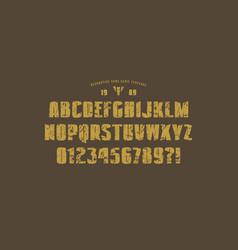 original solid sans serif font vector image