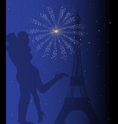 Paris romance vector