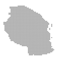 pixel map of tanzania dotted map of tanzania vector image