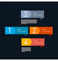 Progress Steps for Tutorial Infographic vector