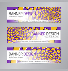 Purple yellow web header abstract banner vector