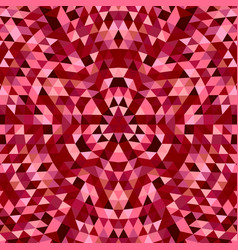 Round geometric triangle kaleidoscope mandala vector