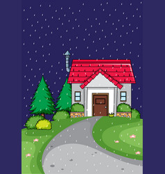 rural home are night vector image