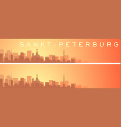Saint petersburg beautiful skyline scenery banner vector