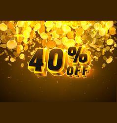 Sale 40 off banner promotion discount flyer big vector